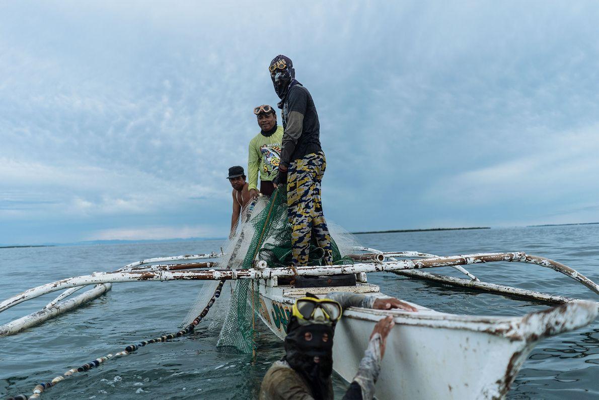 Pescadores en Bohol
