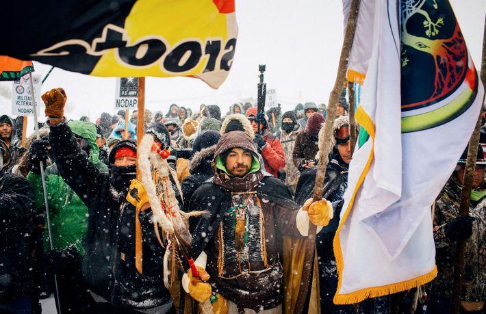 Protesta contra oleoducto