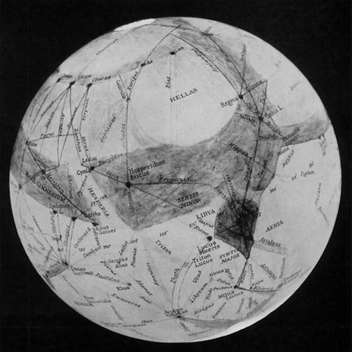 Mapa de Marte de Percival Lowell