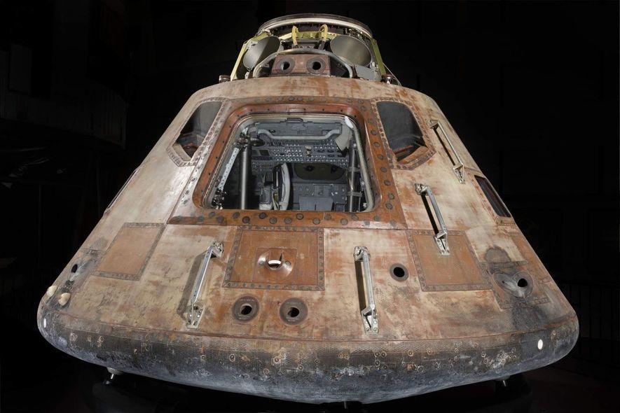El módulo de mando Columbia fue el habitáculo de Neil Armstrong, Edwin «Buzz» Aldrin y Michael ...