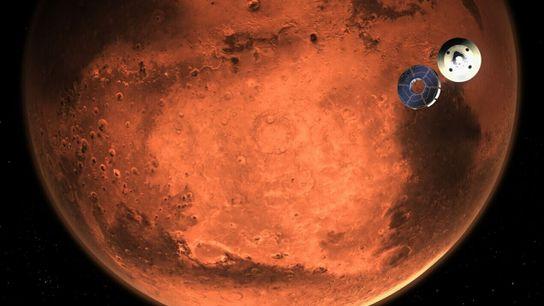 Ilustración del róver Perseverance de la NASA
