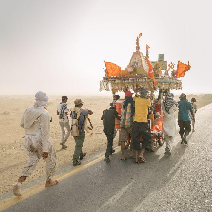 Peregrinos hindúes