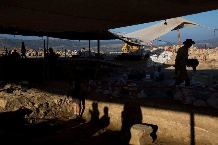 Los arqueólogos llevan excavando la sinagoga en el yacimiento de Huqoq, Israel, desde 2012.