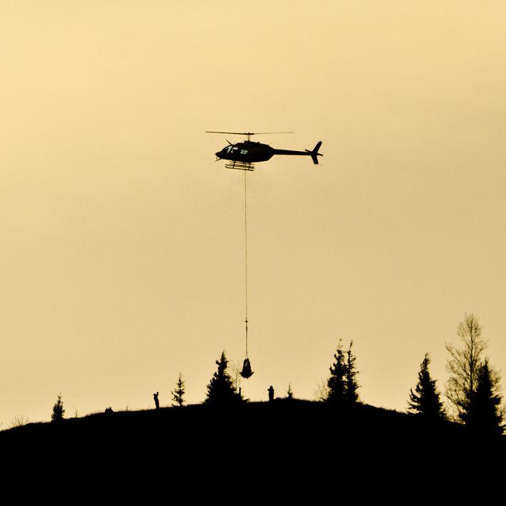 Helicóptero, monte santa Helena