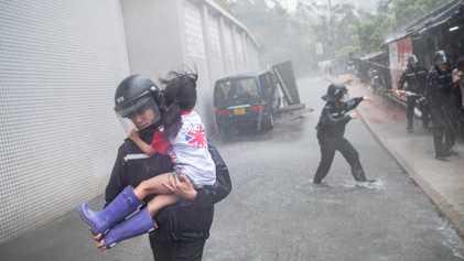 El caos del supertifón Mangkhut en 13 imágenes