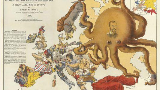 Los coloridos mapas propagandísticos de las guerras del siglo XX