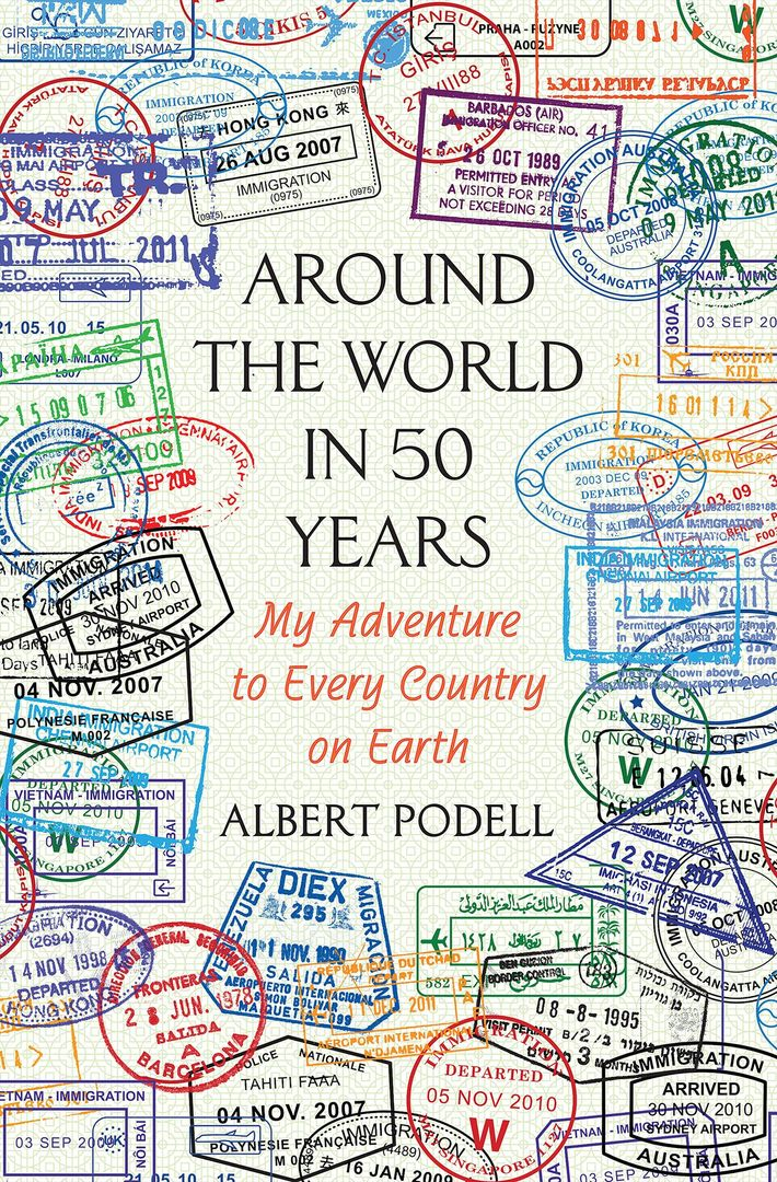 Fotografía de la cubierta de Around the World in 50 Years de Albert Podell