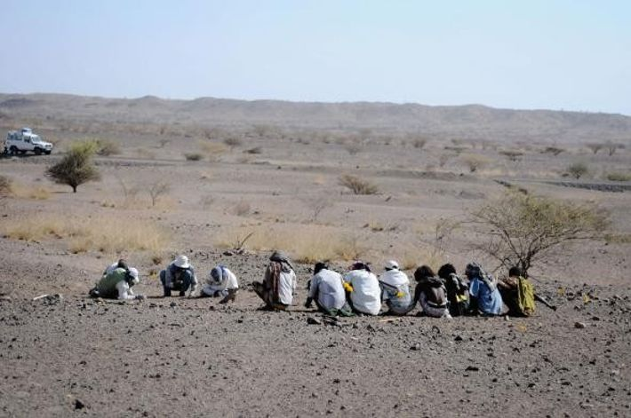 Equipo de arqueólogos, Etiopía