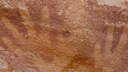 Las manos de bebé en las pinturas rupestres podrían pertenecer a lagartos