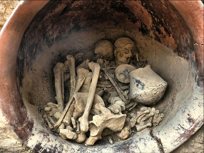 Imagen de la tumba de La Almoloya
