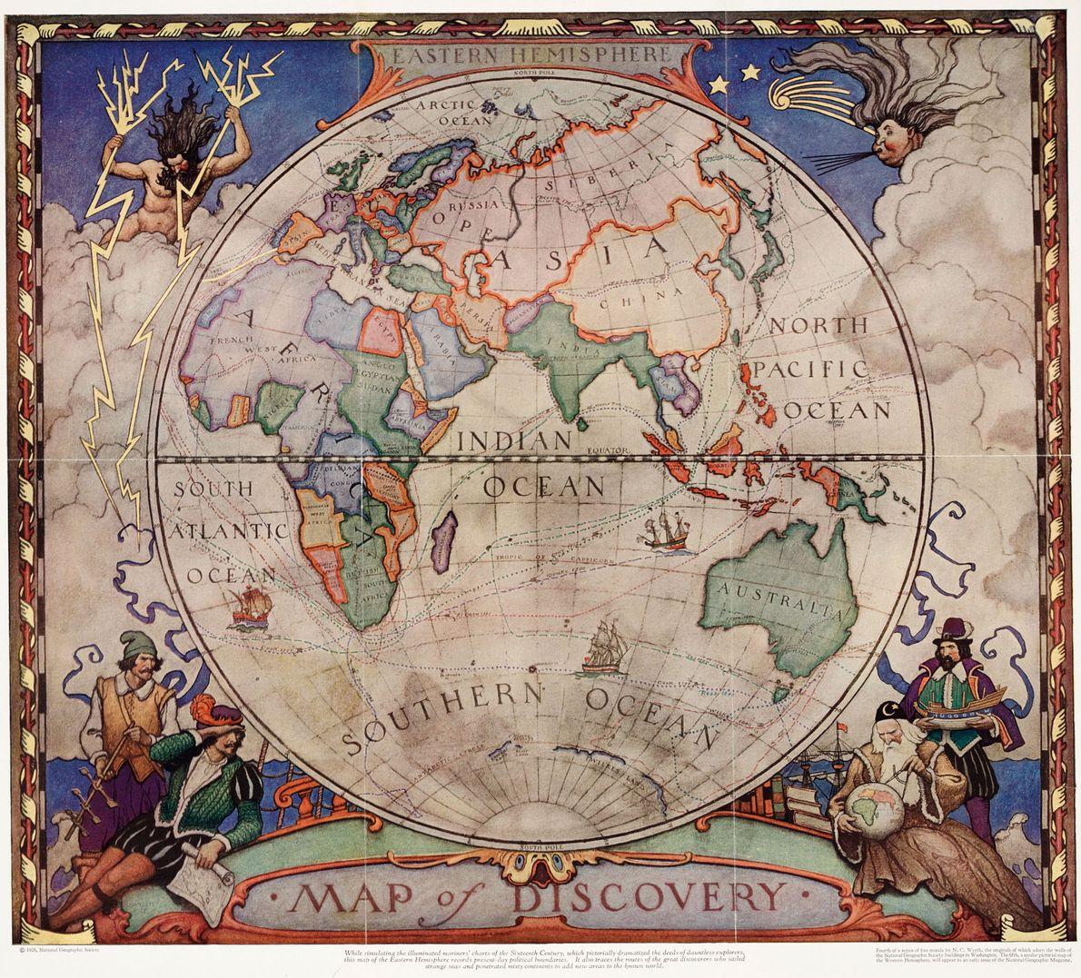 Mapa del descubrimiento, 1928