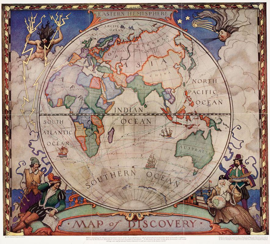 Este mapa de 1928 representa las fronteras políticas de la época, pero se creó al estilo ...