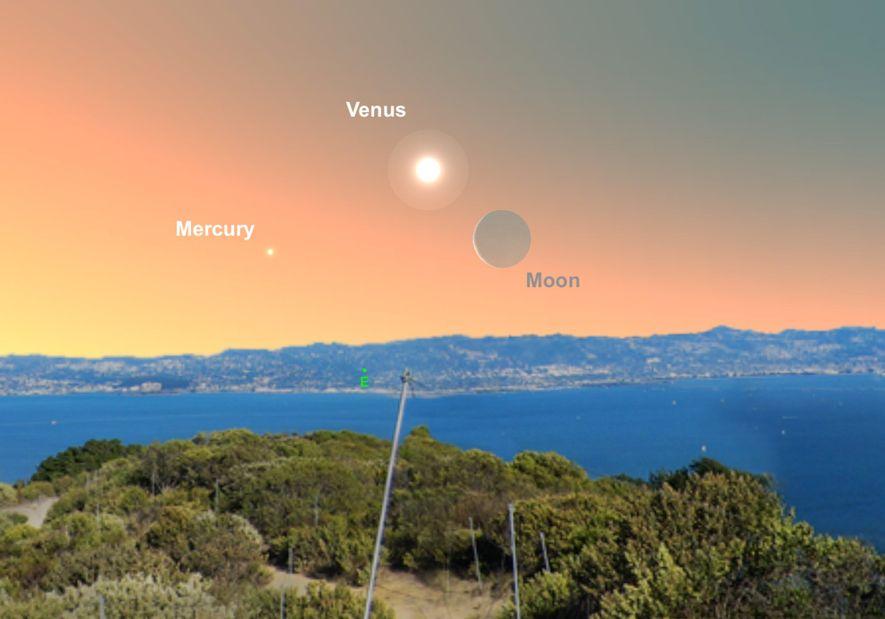 Busca Venus cerca de la luna creciente a primeras horas de la mañana del 2 de ...