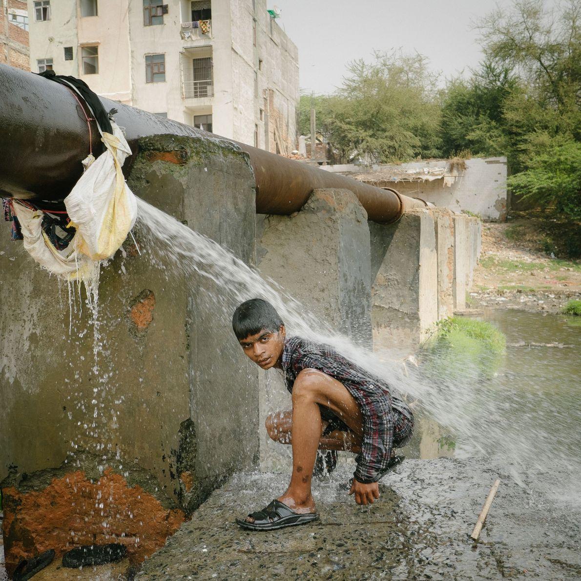 Fotografía de Omba Samir, reciclador, drogadicto