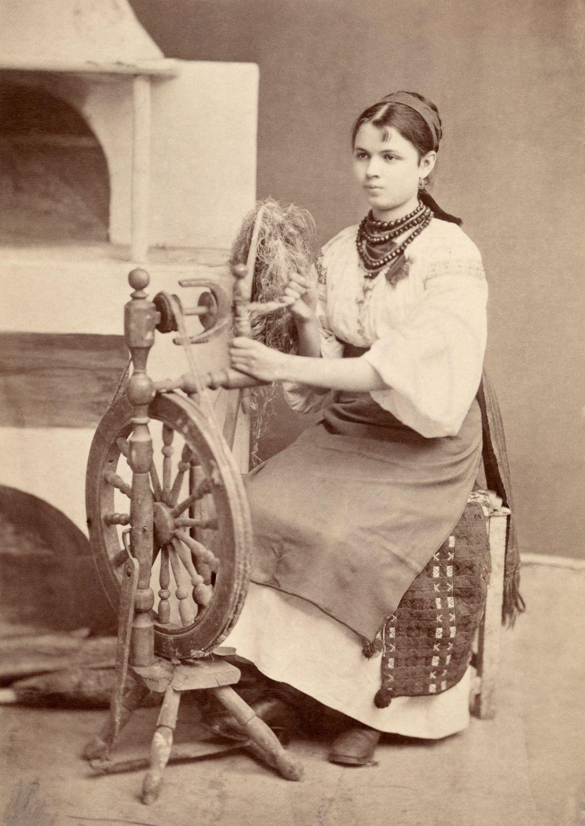 Una mujer ucraniana