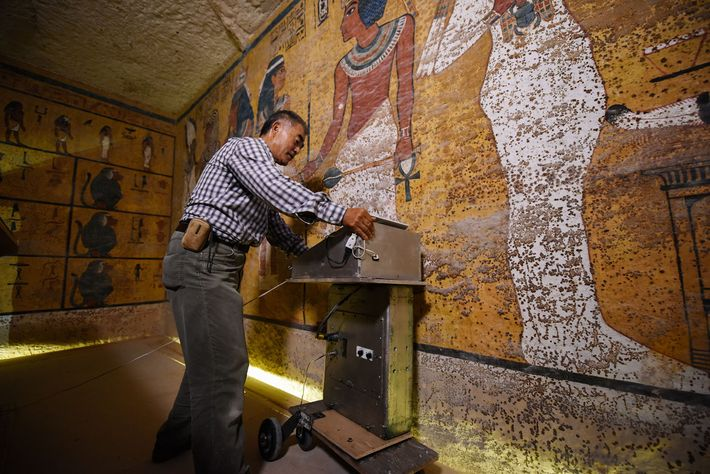 Cámaras secretas en la tumba de Tutankamon.