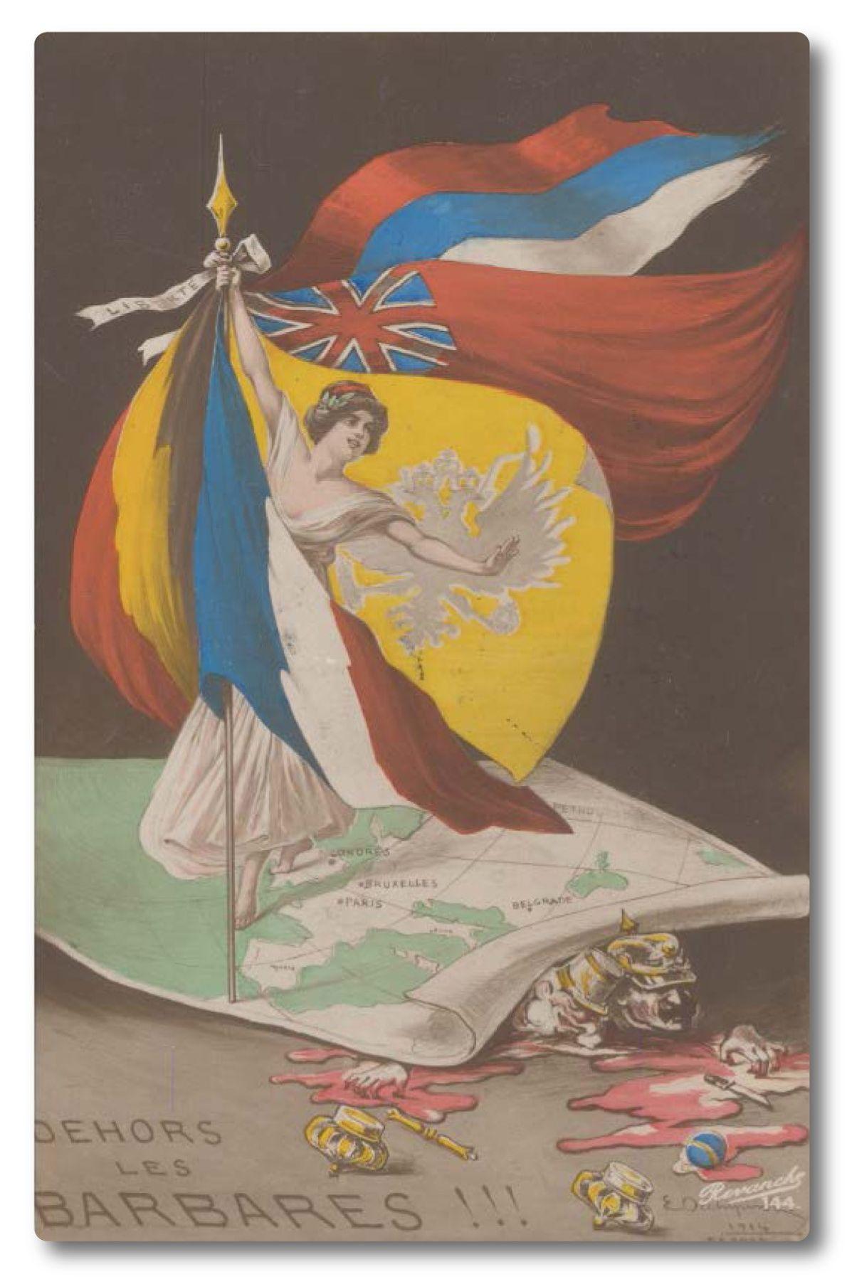 Una postal francesa de 1914