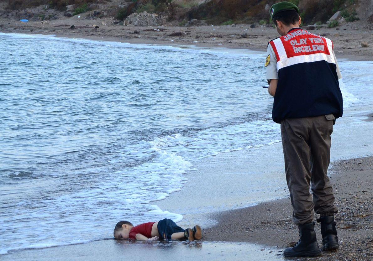 Imagen de un niño sirio