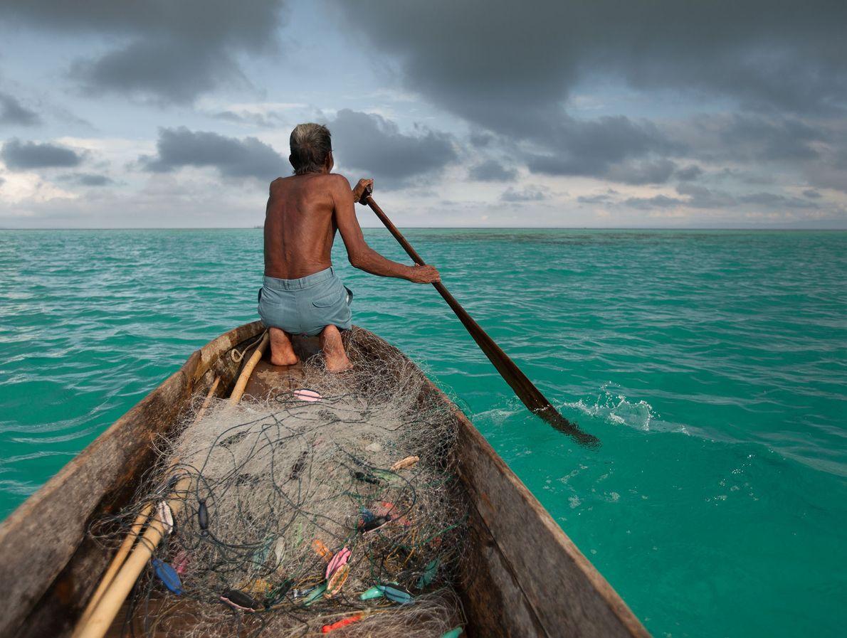 Un pescador bajau