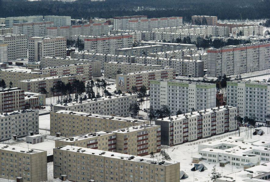 La ciudad de Prípiat se construyó para albergar a los trabajadores de la central nuclear en ...