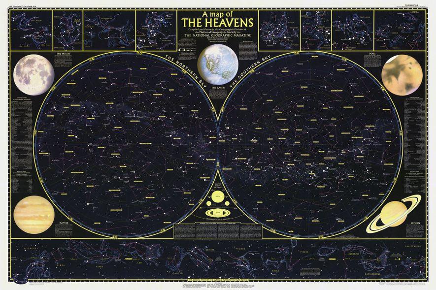 El número de diciembre de 1957 de National Geographic iba acompañado de un mapa desplegable de ...