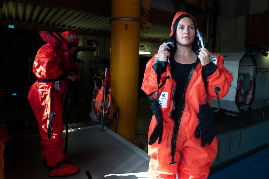 María Josefa Verdugo hará su investigación de doctorado durante el tiempo que pase en el Polarstern. ...
