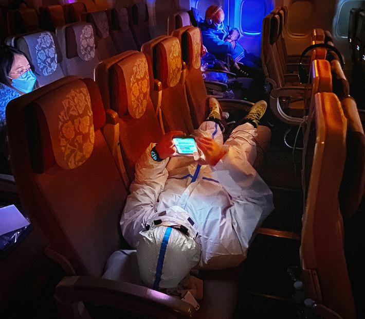 Pasajeros del avión