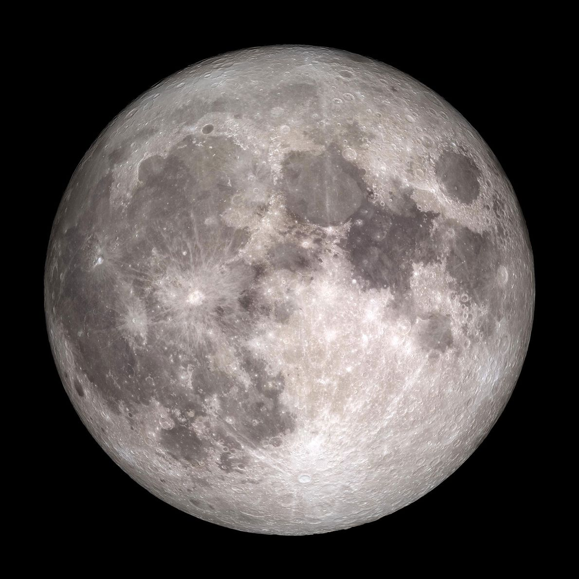 This photo of a full moon was captured by NASA's Lunar Reconnaissance Orbiter, which has been ...