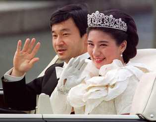 El príncipe Naruhito y la princesa Masako