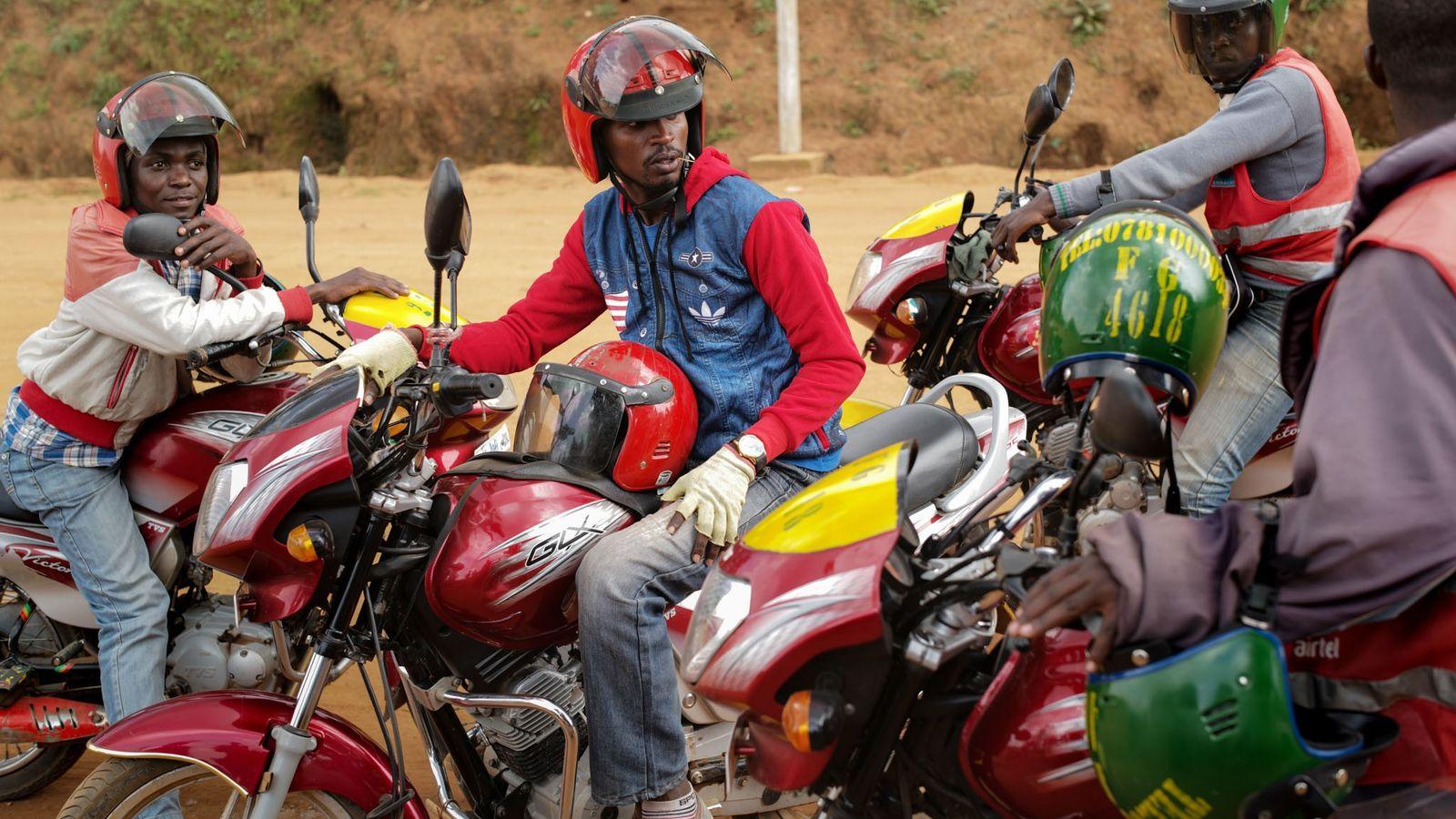 Una reunión de conductores en Kigali
