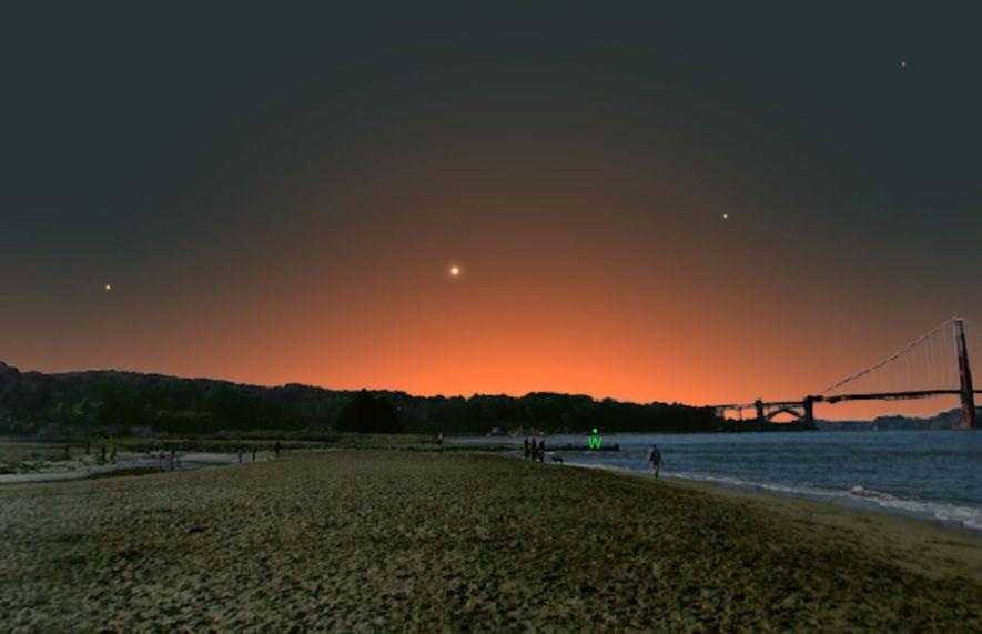 Mercurio estará en su punto más distante del sol y será fácil de ver en el ...