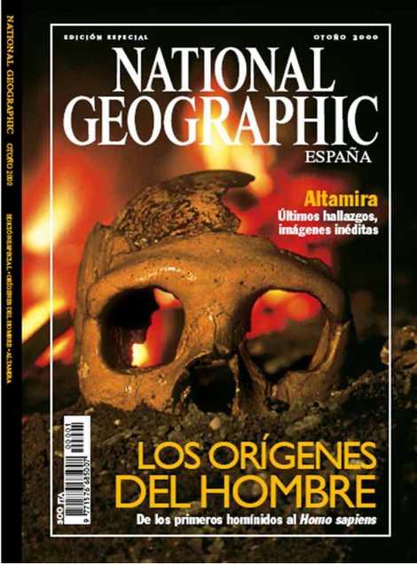 Revista National Geographic, portada del número sobre Altamira.