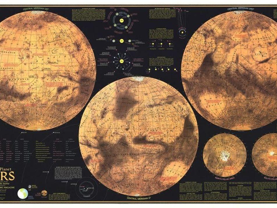 La evolución de los mapas de Marte