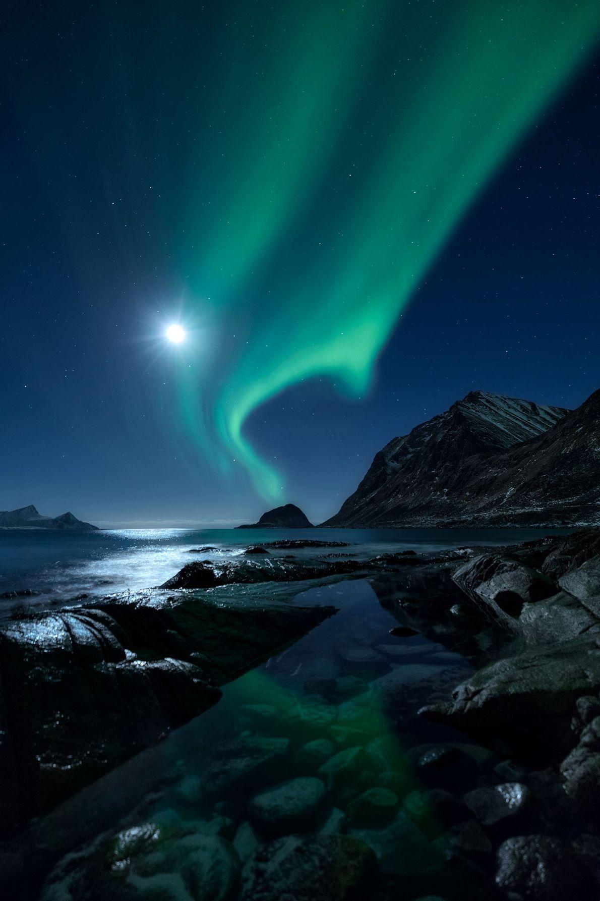 La aurora boreal, Lofoten