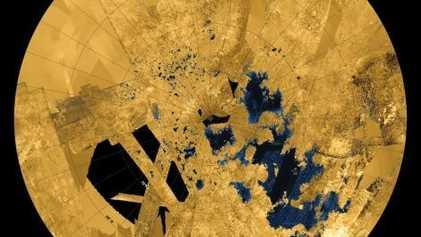 Las imágenes de Cassini en su último vuelo sobre Titán