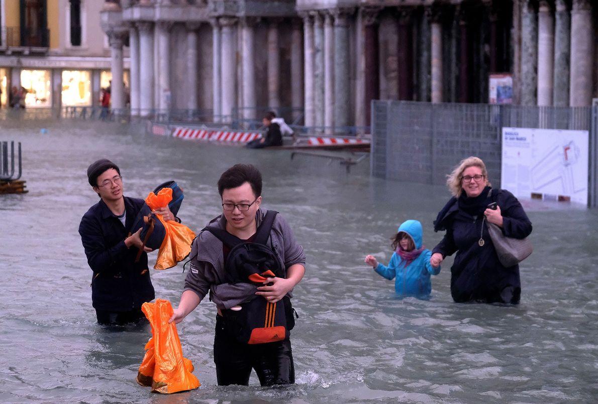 Plaza inundada