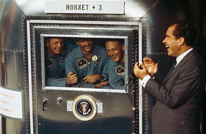 Aldrin y los otros astronautas