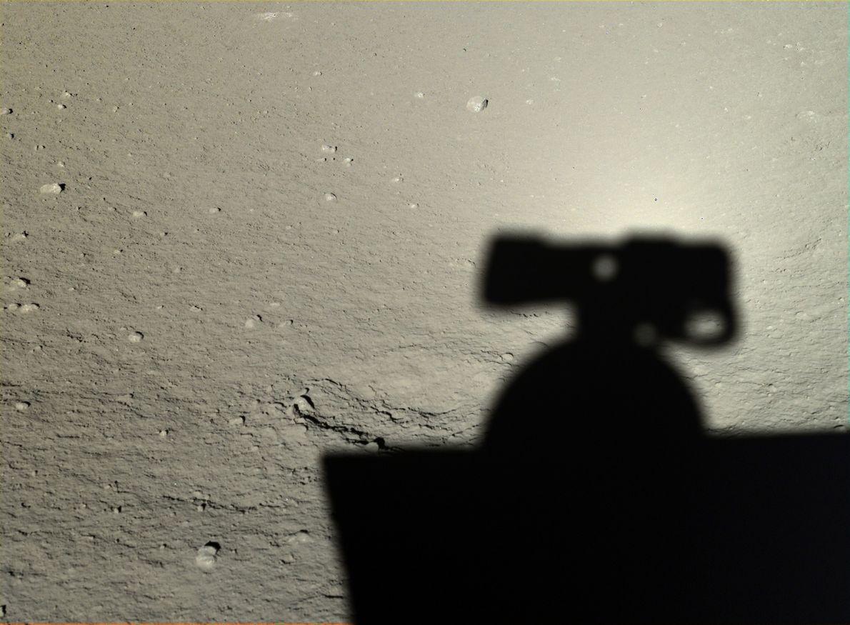 Imagen de la sombra del Yutu en la Luna