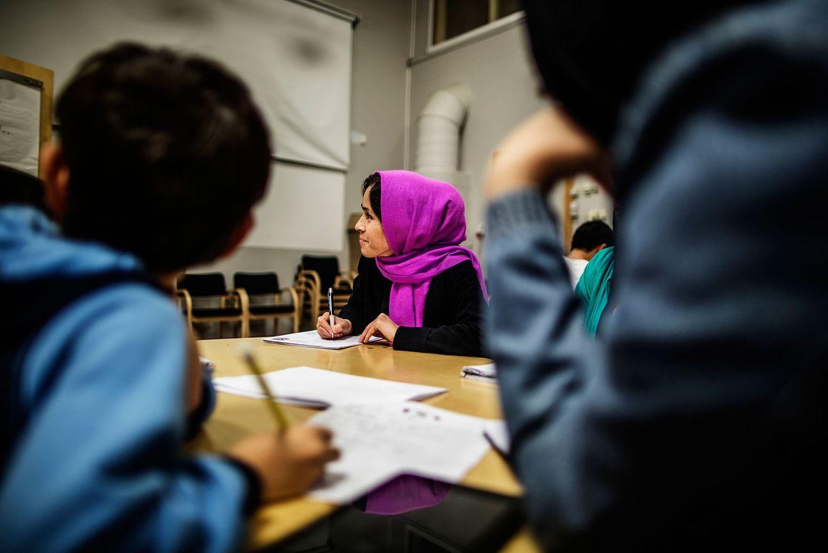 Imagen de una clase en Suecia