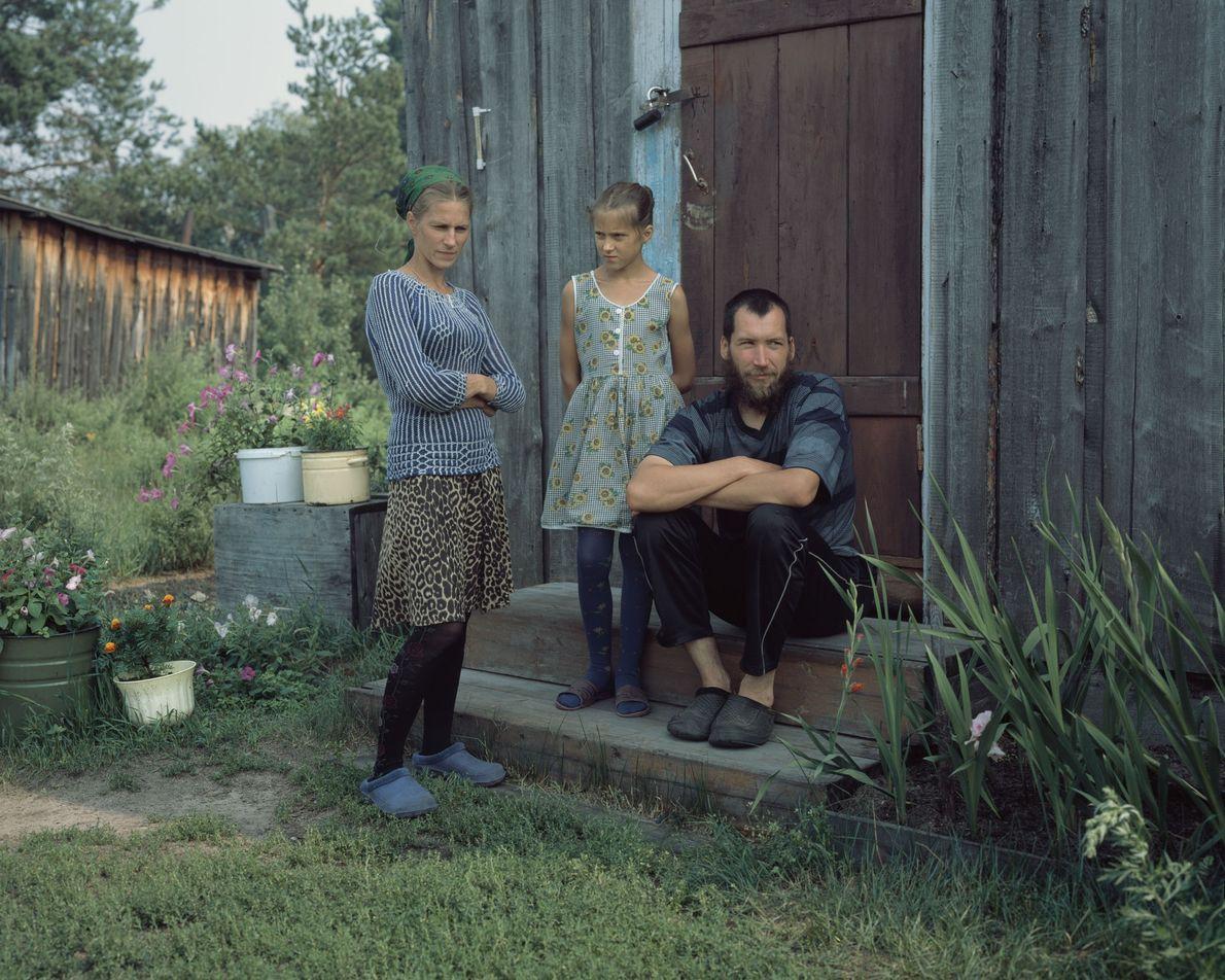 Alexandra Lobanova, Sergey Lobanov y su hija Katya
