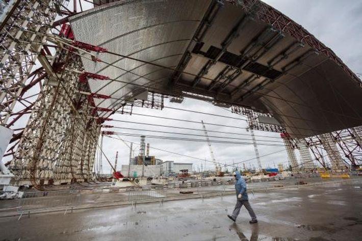 Estructura del sarcófago de Chernóbil