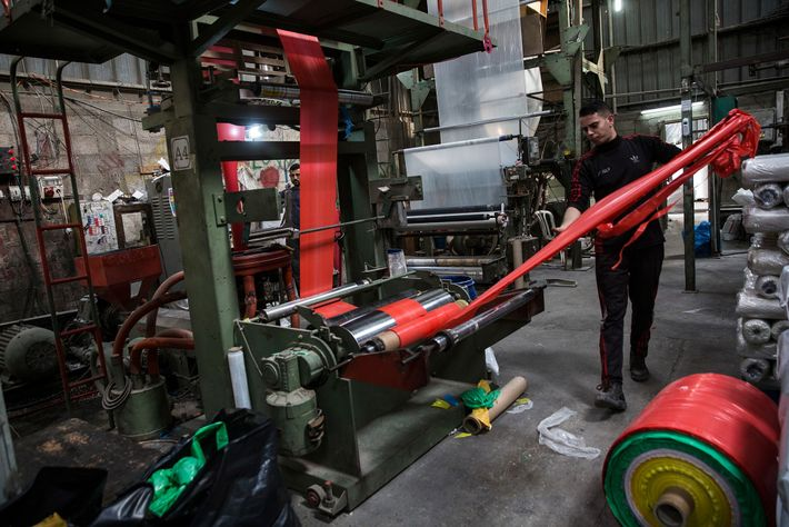 Fábrica de reciclaje de plástico