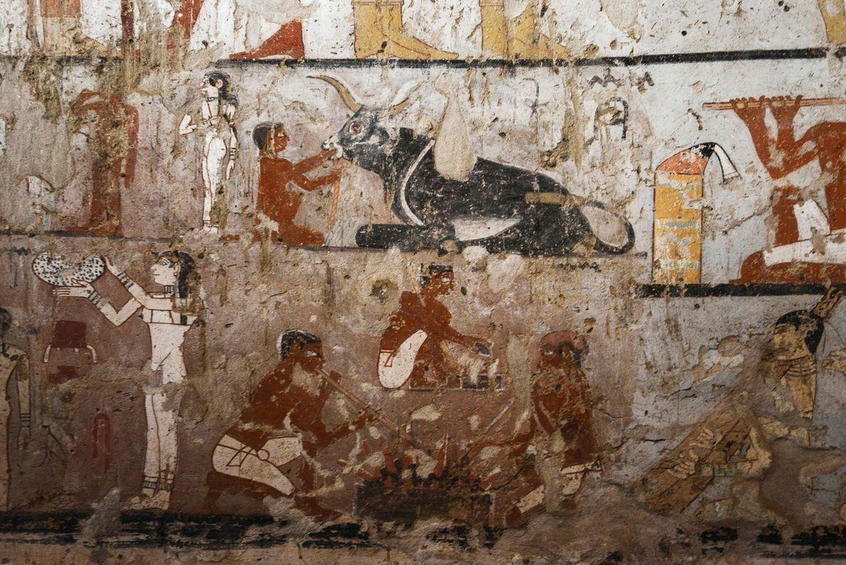 Pinturas de la tumba