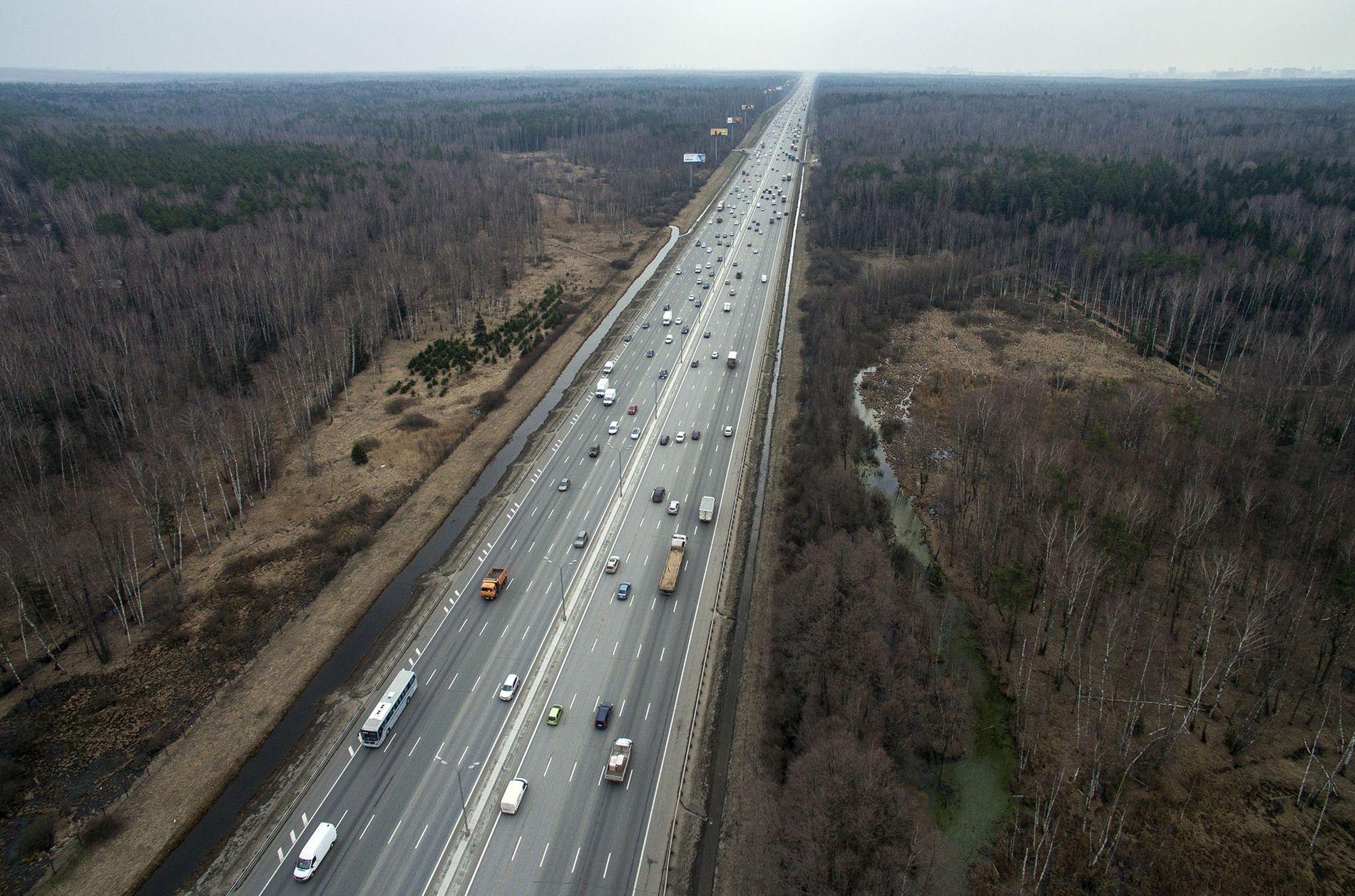 Imagen del kilómetro 98 de la MKAD