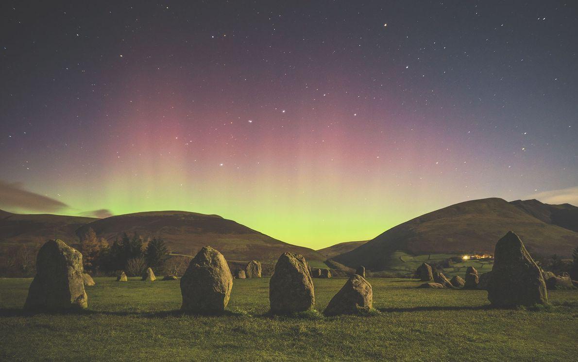La aurora boreal, Inglaterra