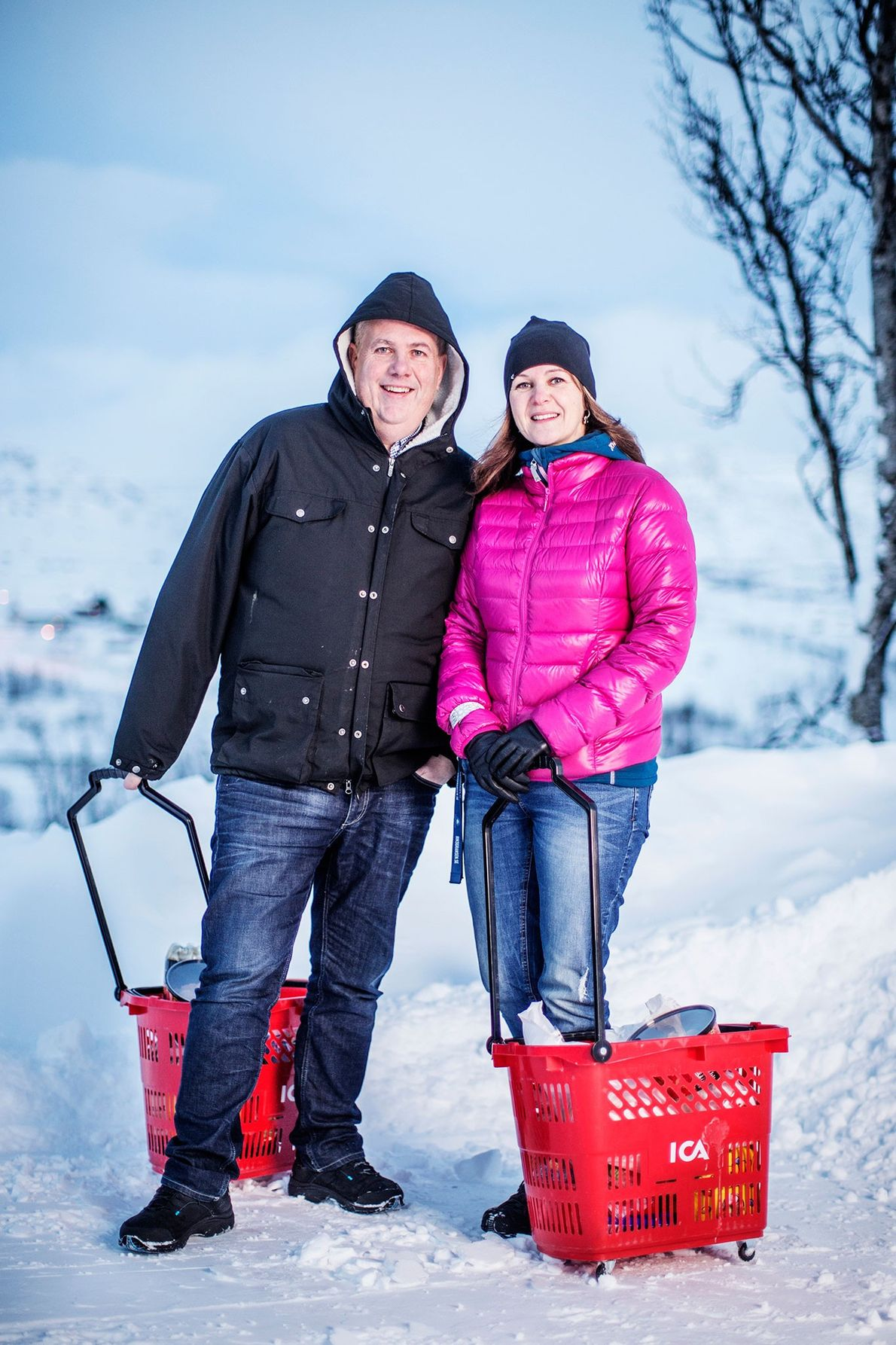 "Foto de Jean Paul ""JP"" Pozzi Gerente Riksgrnsen y su comapñera Kristiina Lampinen"