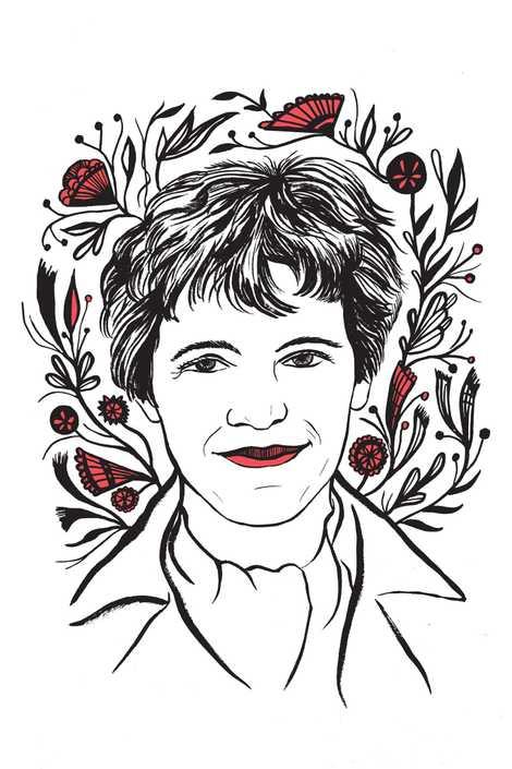 Ilustración de Amelia Earhart hecha por Kimberly Glyder para el libro «In Praise of Difficult Women».