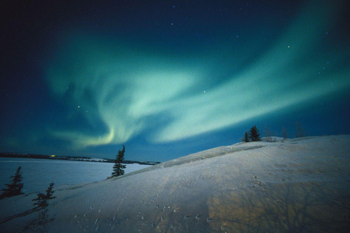 Aurora en los Territorios del Noroeste de Canadá