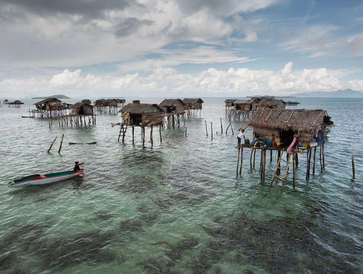 Casas sobre pilotes de bambú