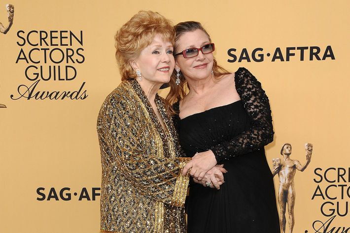 Debbie Reynolds con Carrie Fisher